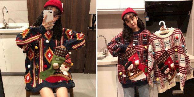 10 nezvichaynih novor chnih svetr v 5 - 10 незвичайних новорічних светрів