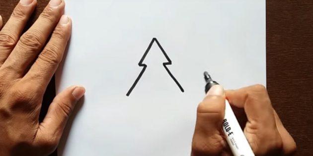 12 sposob v namalyuvati yalinku z yakimi vpora t sya nav t ditina 10 - 12 способів намалювати ялинку, з якими впорається навіть дитина
