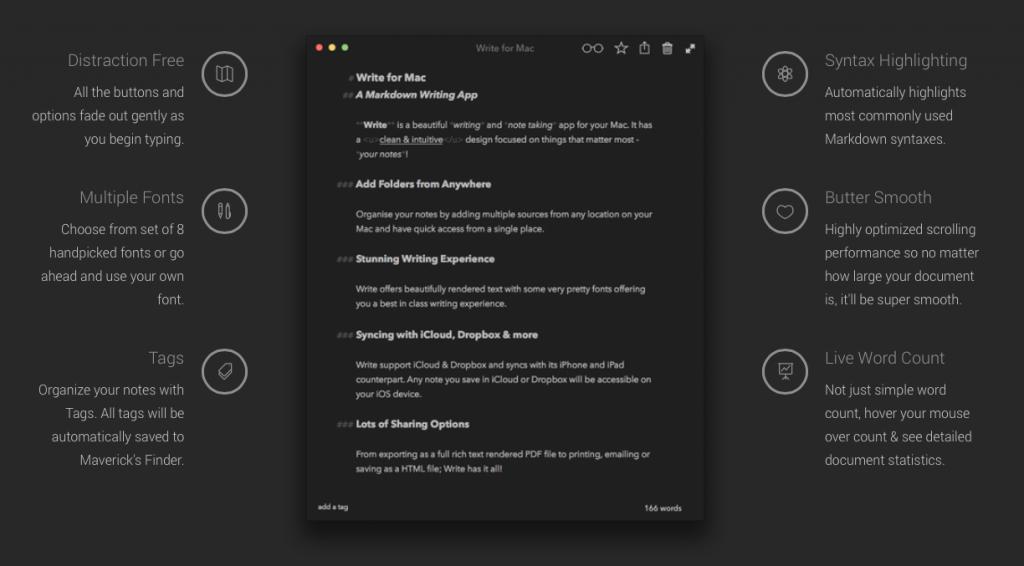 write bezkomprom sniy markdown zametochn k dlya ios os x 2 - Write — безкомпромісний markdown-заметочнік для iOS і OS X